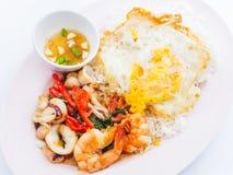 辣泰国食物, sice用咖喱 库存图片