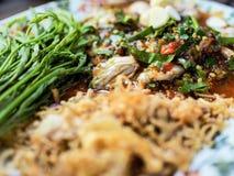 辣牡蛎沙拉 免版税库存图片