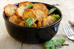 辣被烘烤的土豆 图库摄影