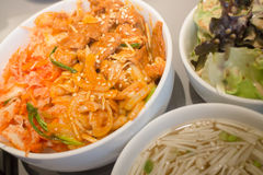 辣韩国被称呼的猪肉用米 库存照片