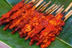 辣鸡烤了鸡,辣的一点的泰国食物 库存图片