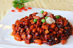 辣babao中国食物的调味汁 免版税库存照片