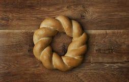结辨的圆的面包 免版税图库摄影
