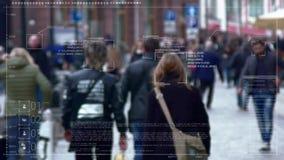 辨认和跟踪在人群的身分 影视素材