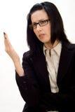 辩论女性 库存照片