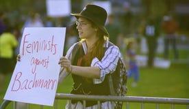 辩论抗议者rnc 免版税库存照片