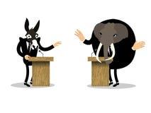 辩论美好的概念性图形设计  免版税库存图片