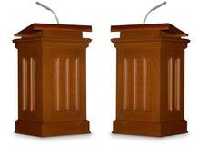 辩论 库存照片