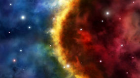 边境二宇宙 免版税库存照片