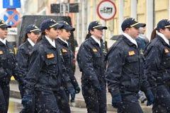 边境警察军校学生 免版税库存照片