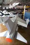 边境飞行博物馆在现代城市达拉斯 库存图片