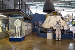 边境飞行博物馆达拉斯TX内部  免版税库存图片