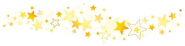 边界不同的金黄和黄色星 向量例证