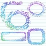 边界乱画概略框架的笔记本 库存例证