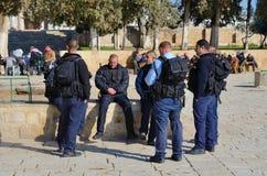 边界以色列人警察 免版税库存图片