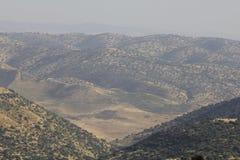 边界以色列叙利亚 图库摄影