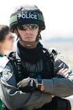 边界以色列警察战士 图库摄影