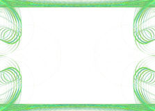 边界企业圆的图象绿色 库存例证