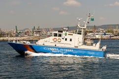 边界保加利亚警察船 库存图片