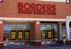 边界关闭 免版税库存照片