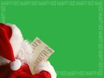 边界列表s圣诞老人 库存图片