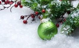边界圣诞树 免版税库存照片