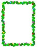 边界圣诞节框架 库存例证