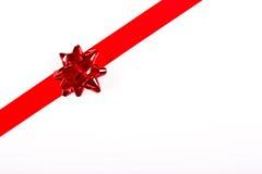 边界圣诞节红色丝带 库存图片
