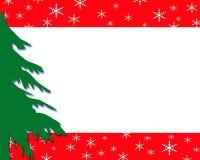 边界圣诞节绿色结构树 库存图片