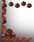 边界圣诞节装饰丝带 免版税库存图片