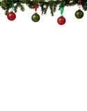 边界圣诞节装饰品 库存图片