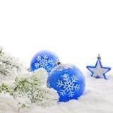 边界圣诞节装饰 库存图片