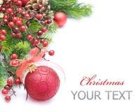 边界圣诞节设计 免版税库存照片