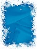 边界圣诞节雪花 免版税库存照片