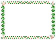 边界圣诞节霍莉 库存照片