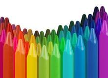 边界多色的蜡笔 免版税库存图片