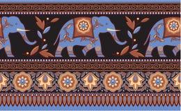 边界大象印度印第安无缝 库存例证