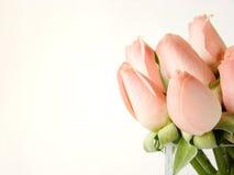 边界小的桃红色玫瑰 免版税库存图片