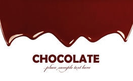 边界巧克力黑暗的甜点 免版税库存图片