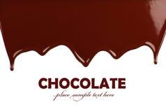 边界巧克力黑暗的甜点 免版税库存照片