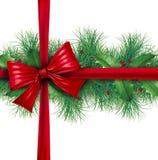 边界弓礼品杉木红色包裹 皇族释放例证