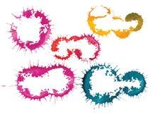 边界或框架 传染媒介水彩刷子手拉的五颜六色的背景 免版税库存图片