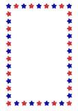 边界星形 免版税库存图片
