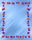 边界框架爱国星形 免版税库存照片