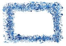 边界框架水彩 免版税库存图片