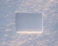 边界横向雪 免版税图库摄影