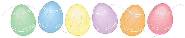 边界水平的复活节彩蛋 免版税库存图片