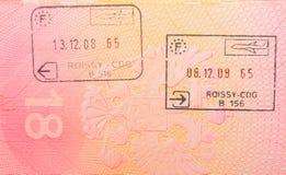 边界法语印花税 库存照片