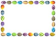 边界用五颜六色的复活节彩蛋 免版税图库摄影