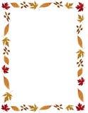 边界秋天叶茂盛框架的节假日 库存图片